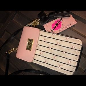 Betsey Johnson wallet on chain- purse